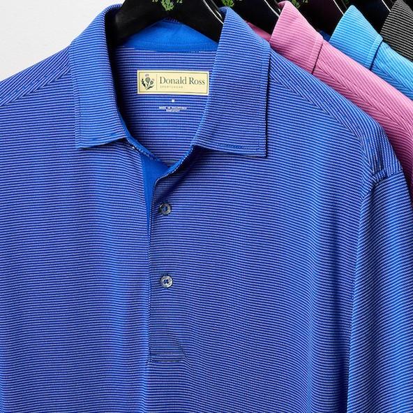 Donald Ross Classic Polo - Micro Stripe