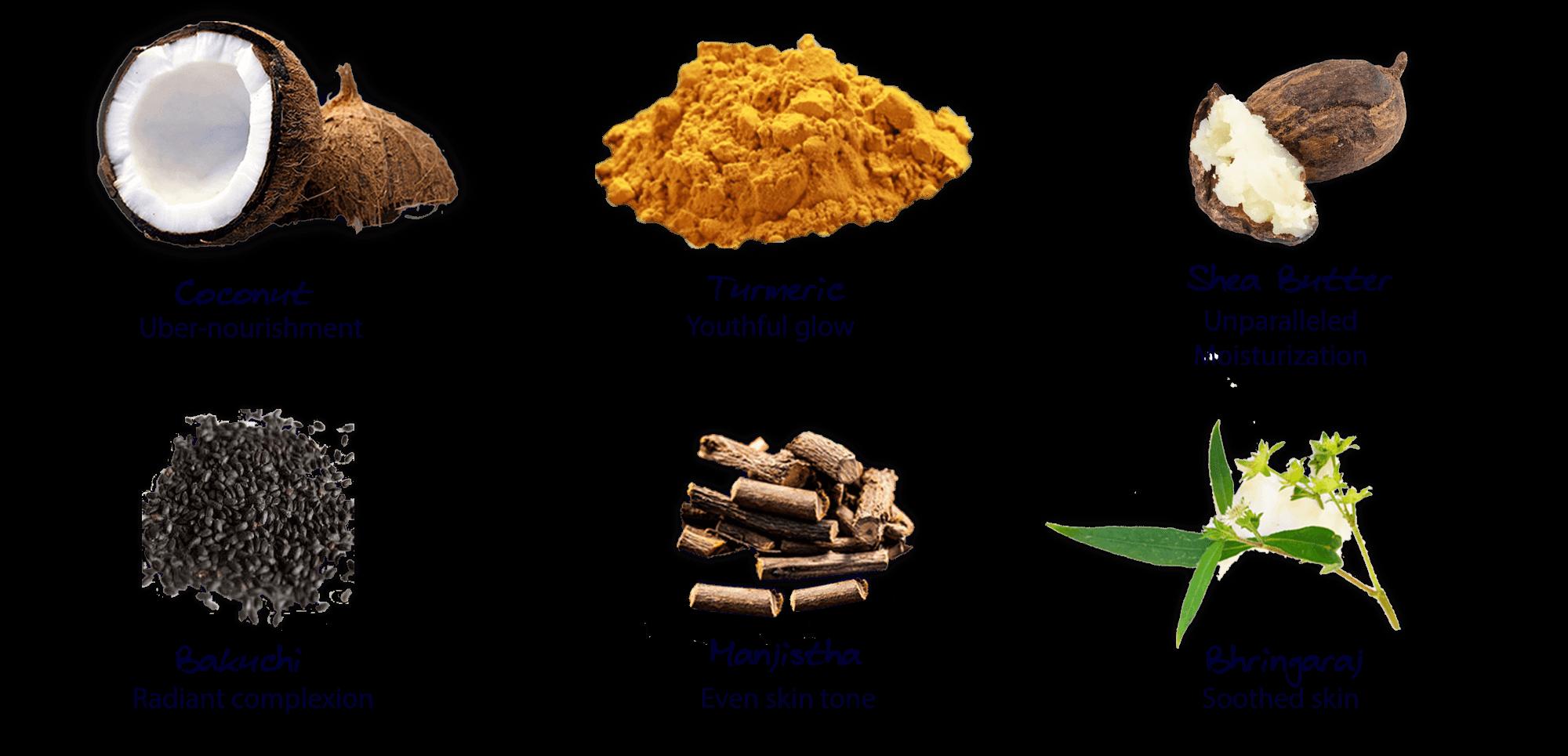 Natural, Ayurvedic ingredients in Narshya Youth Cream