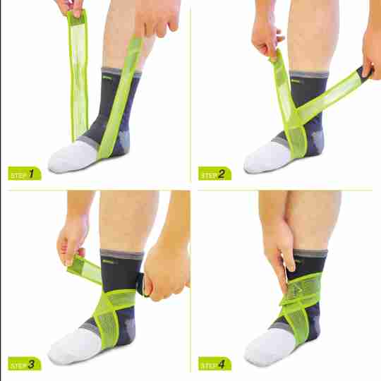 Ankle Brace for Men and Women Compression Support for Sprained Ankles Jogging Running - Elastic Neoprene Slim Fit for Runners Foot and Ankle Stabilizer - Plantar Fasciitisstic Walk Support