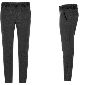 front and side views of the baroque gothic mens trousers