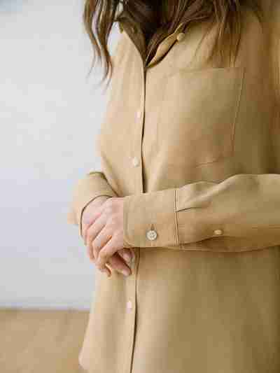 Sustainable Linen Fabric - Martine Sand Tencel