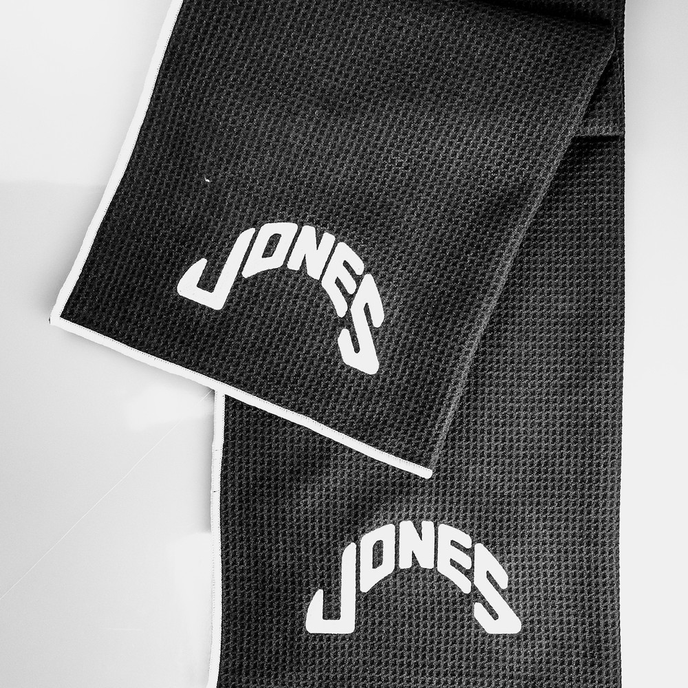 Jones Caddy Golf Towel - Black/White