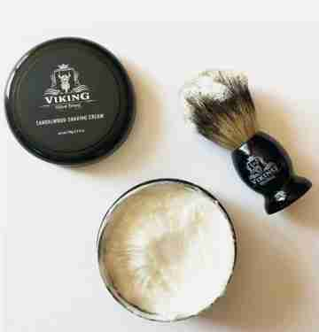 shaving brush and cream