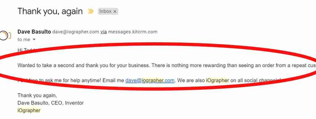 Last email from iOgrapher.