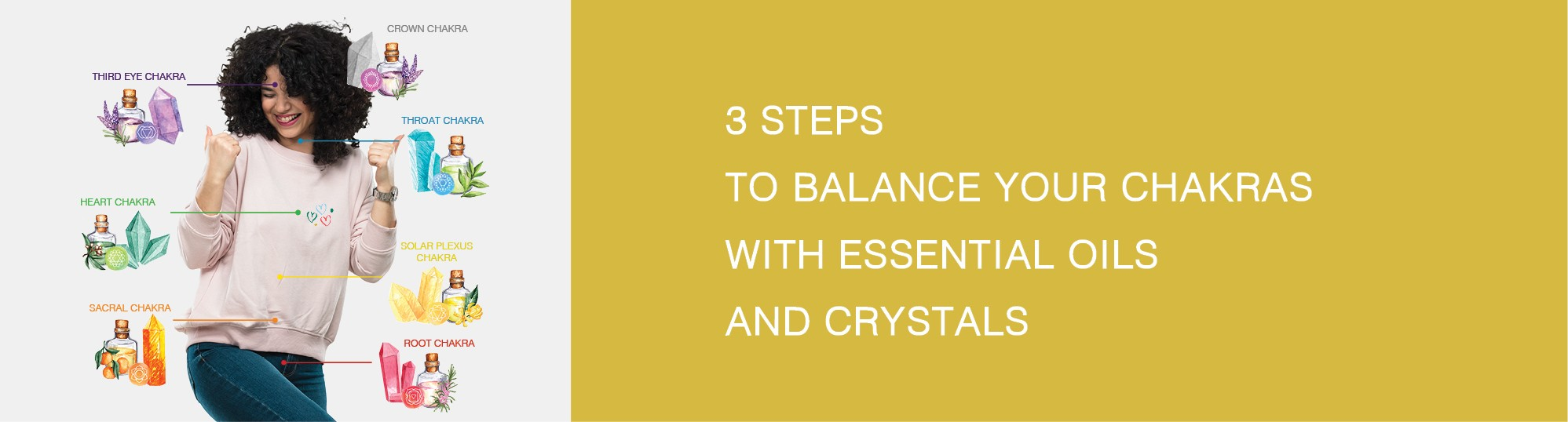 3 STEPS TO BALANCE YOUR CHAKRAS WITH ESSENTIAL OILS AND CRYSTALS