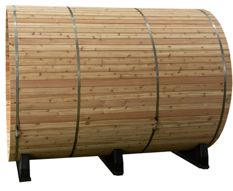 Side view of a Barrel Sauna