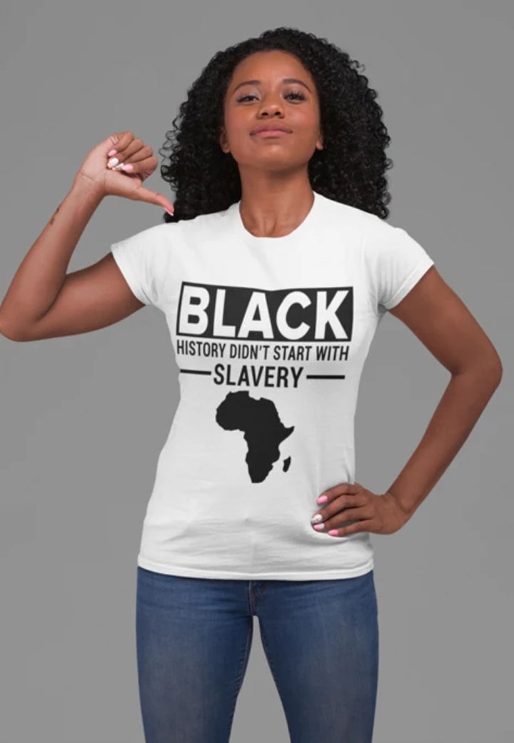 Black History Didn't Start - Unisex Jersey Short Sleeve Tee