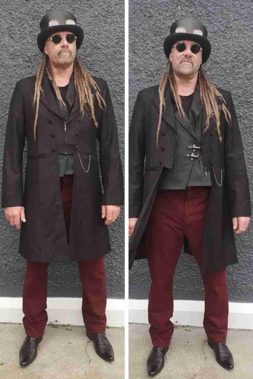 Gothic Steampunk Original Outlaw Gentleman Sean from NZ all ready for his steampunk wedding in summer 2021