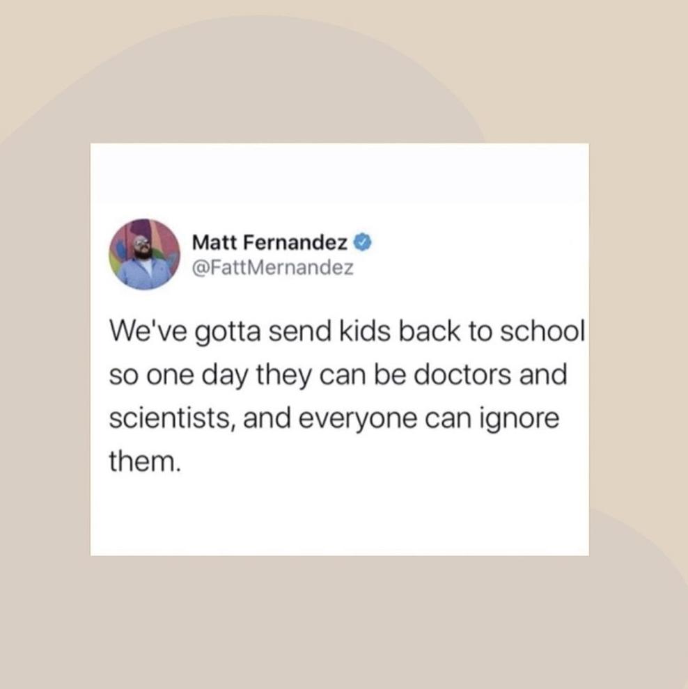 ignore scientists tweet