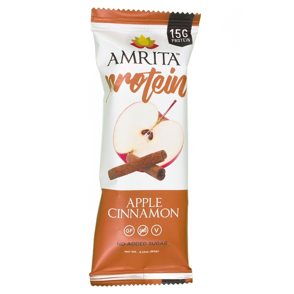 Amrita Apple Cinnamon Protein Bar