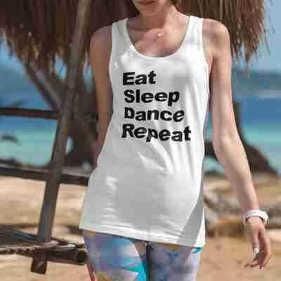Eat Sleep Dance Repeat Racerback Tank