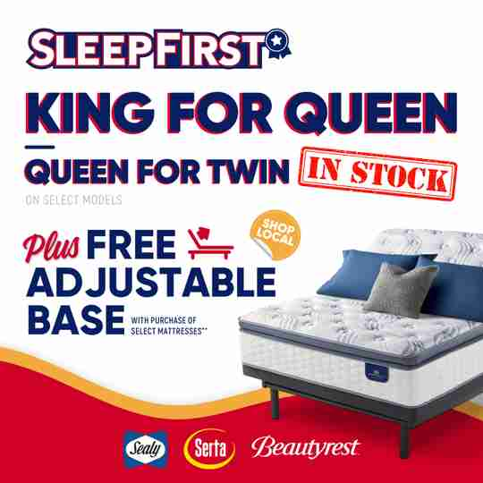 Sleep First Mattress Sale Promotion King for Queen