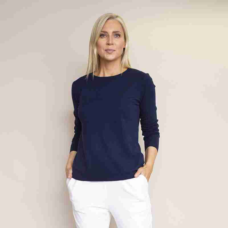 Sonia Round Neck Jumper(Navy)