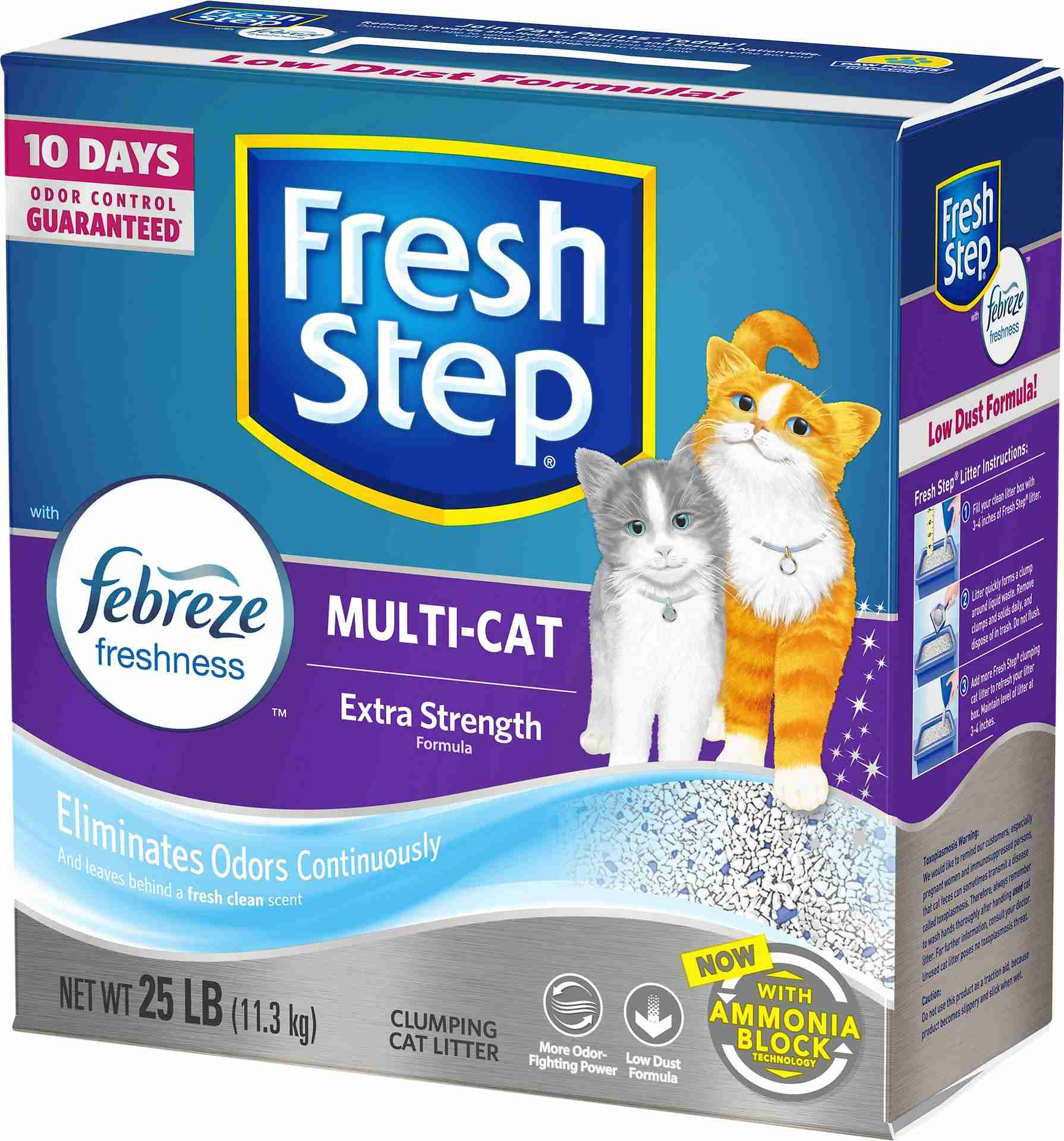 Fresh Step Multiple Cat Scoopable Clumping Cat Litter