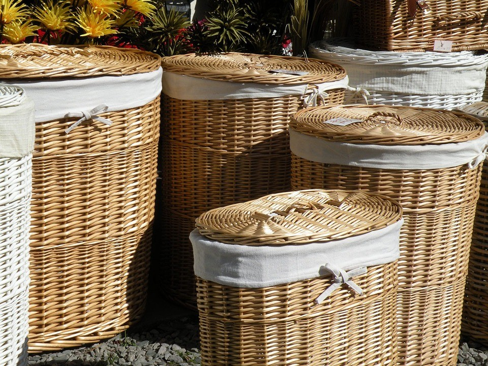 traditional laundry hampers