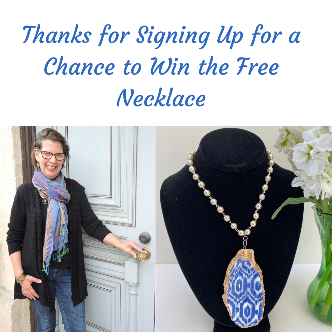 Thanks for signing up for signing up for a chance to win free necklace