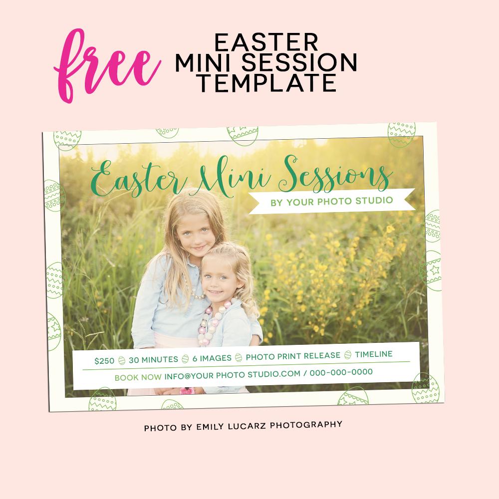 Free easter mini session template