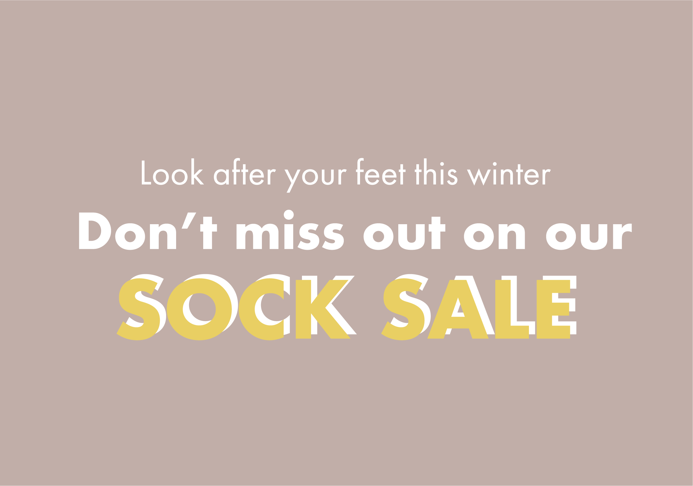 Winter sale for socks image