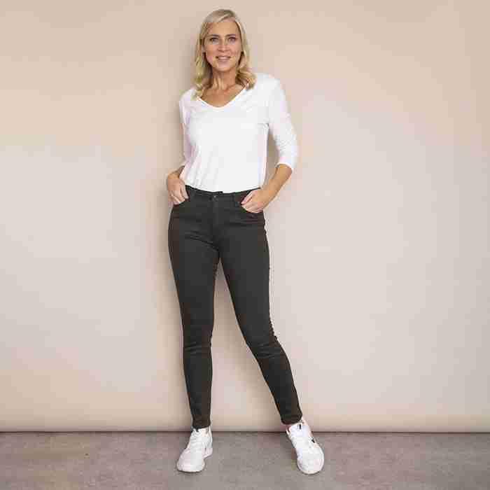 Kylie Cotton Trousers(Khaki)