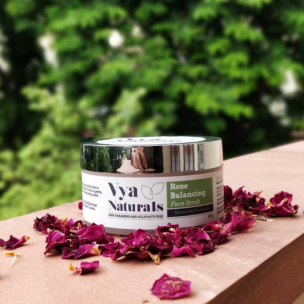 Vya Naturals Rose Scrub