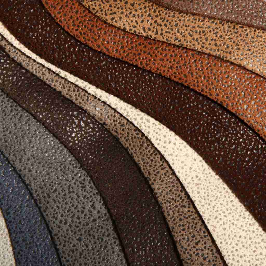 colorful pu leather close up shot