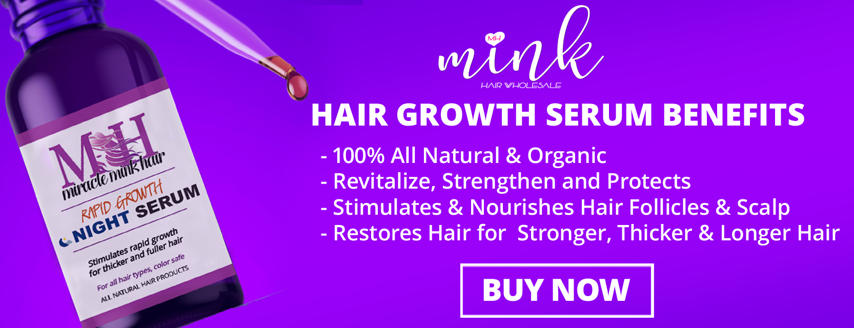 Miracle Mink Hair Growth Serum Benefits