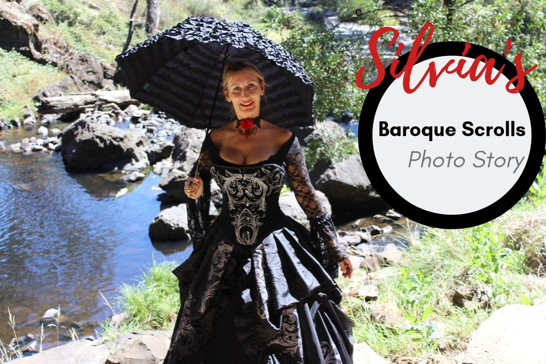 Baroque Scrolls Tudor Harlotte gown special offer for blog readers