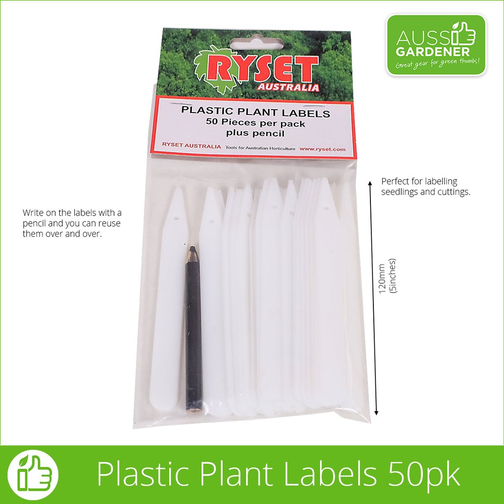 PLASTIC PLANT LABELS + PENCIL 50pcs / PACK