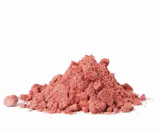 Cranberry powder with white background