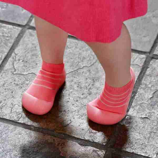 Attipas baby shoes in See Through Red