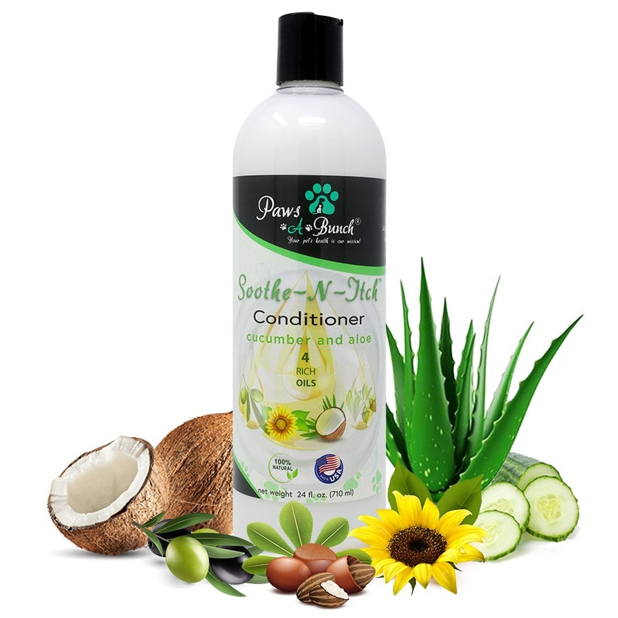 24oz Soothe-n-Itch Conditioner by Paws-a-Bunch. Natural Conditioner for Dogs and Cats Anti-Itch