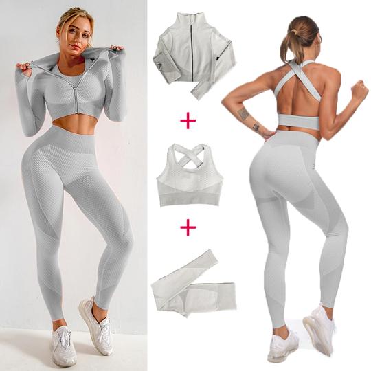 3 Piece Active Wear in White