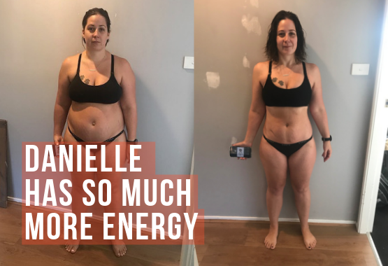 Danielle L, lost just under 15kgs in 12 weeks