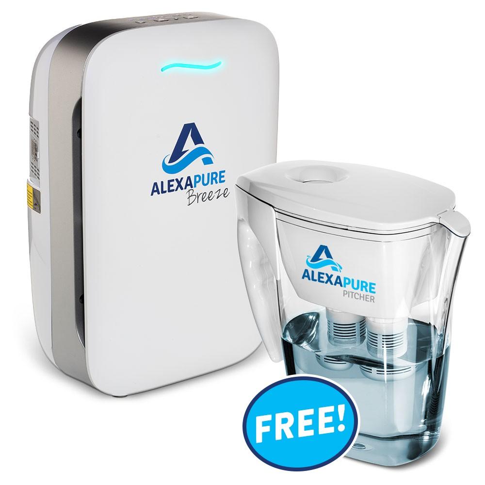 Alexapure Breeze True HEPA Air Purifier Plus Free Alexapure Pitcher Water Filter