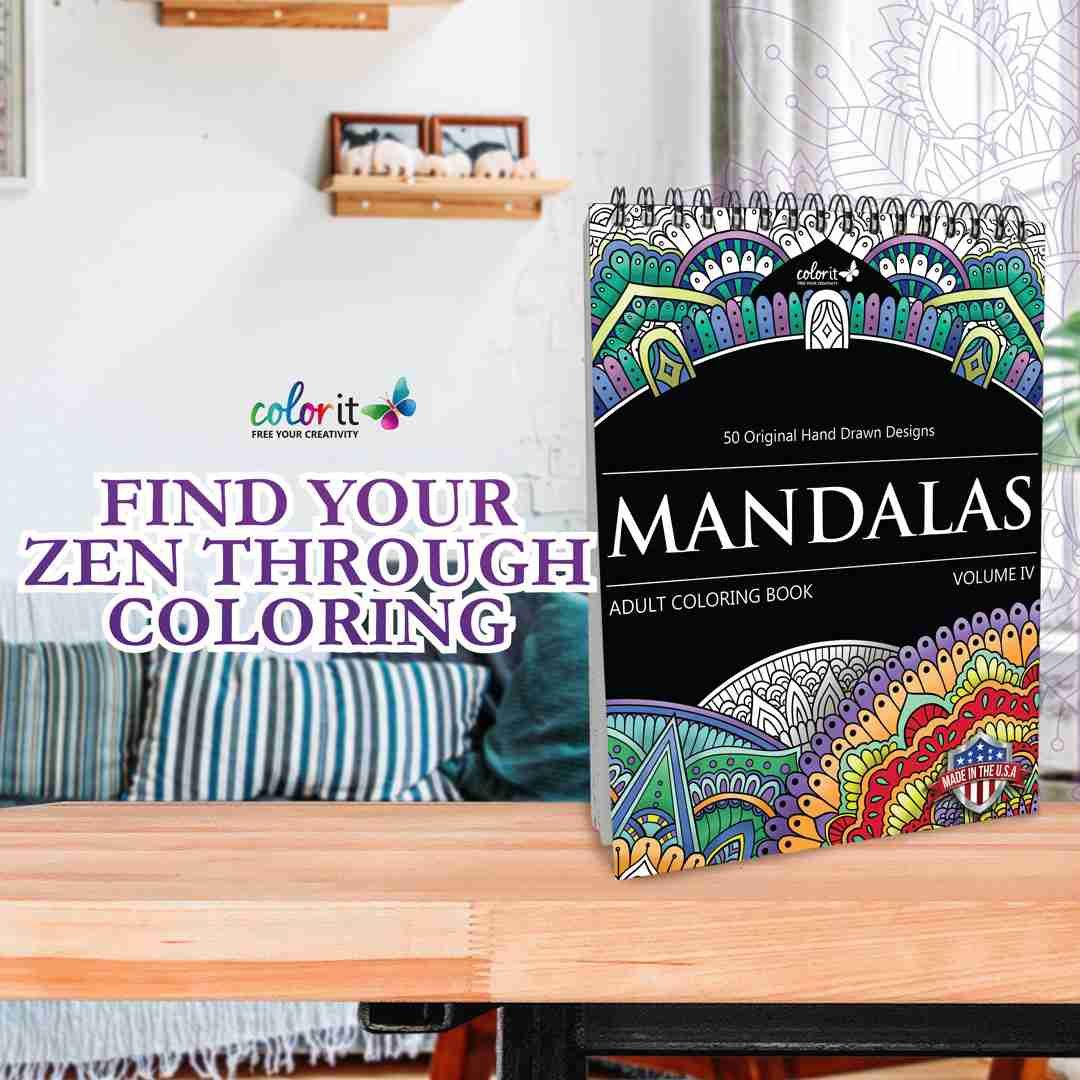 ColorIt Mandalas to Color Volume 4 Coloring Book for Adults