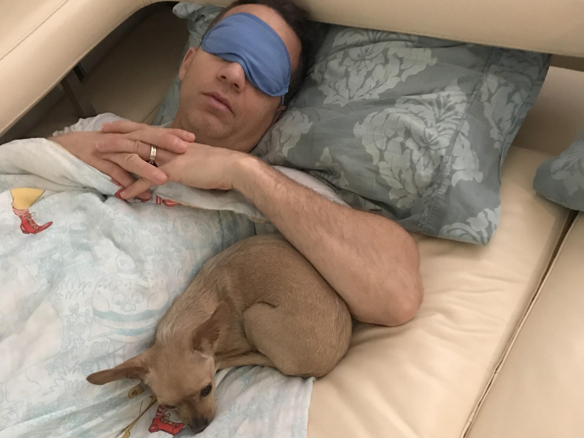 My Dog Felipe and I Taking a Nap