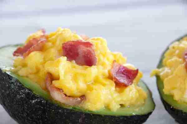 Avocado Egg Breakfast Bowl Bacon