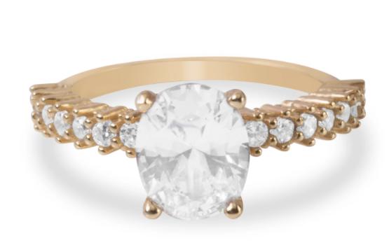 Blush and Bar Cara Zirconia Ring