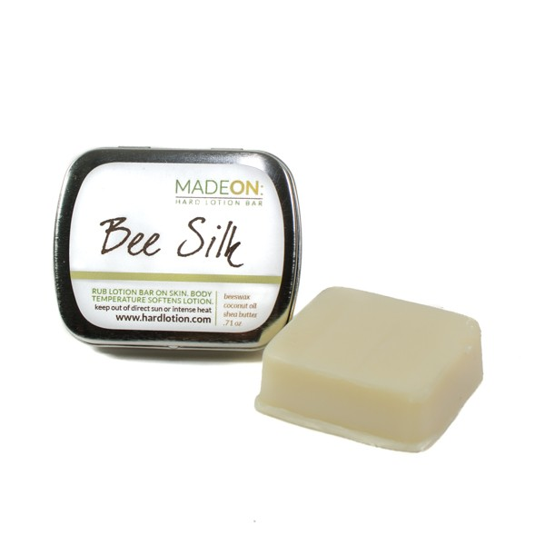 Beesilk pocket size lotion bar in tin