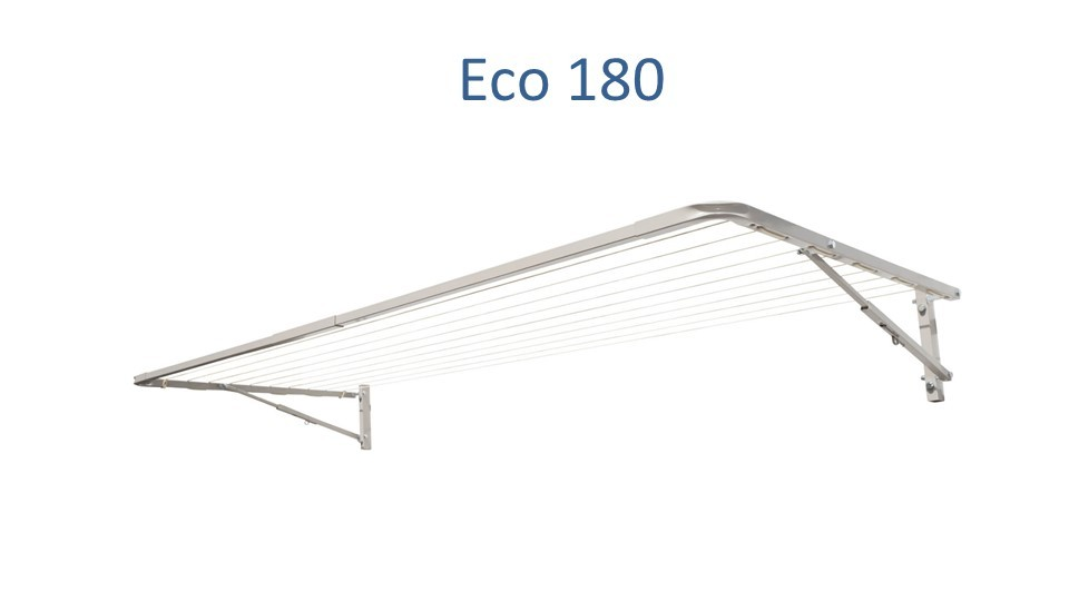 eco 180 fold down clothesline 1.6m wide deployed