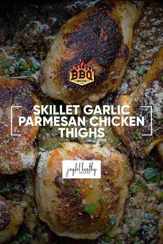 skillet garlic parmesan chicken thighs
