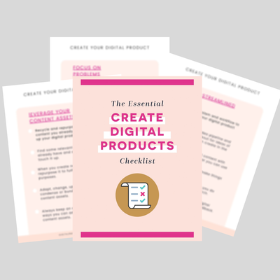 create digital products checklist