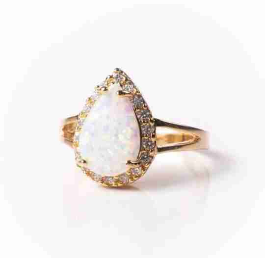 An opal engagement ring