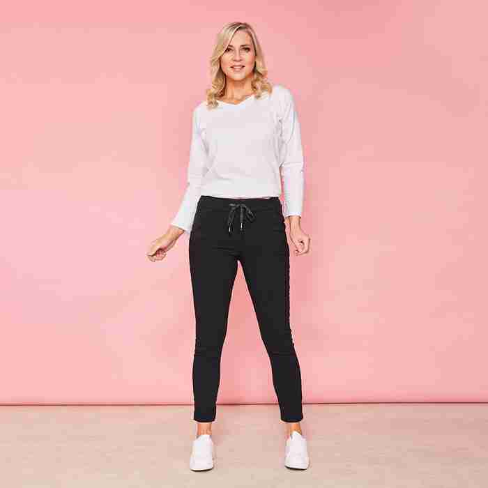 Charlie Relaxed Stretched Jogger(Black)