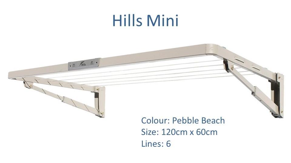 hills mini 120cm by 60cm clothesline