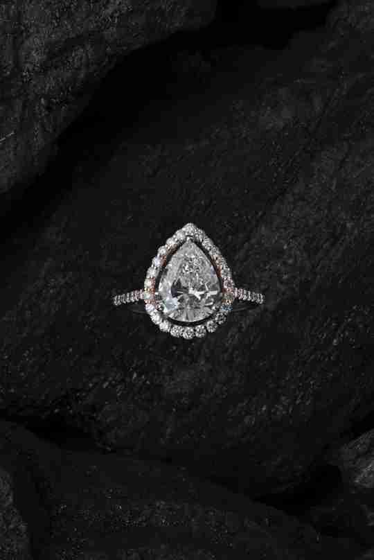 Close up of a diamond ring