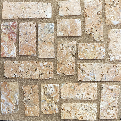 Carmel Sand with Marbled Peach Pavers