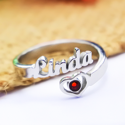 Single Name Personalized Rings
