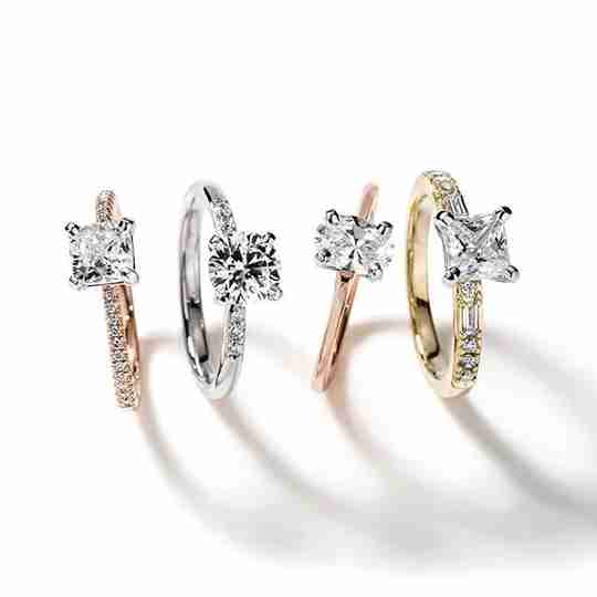 Four diamond rings from Blue Nile