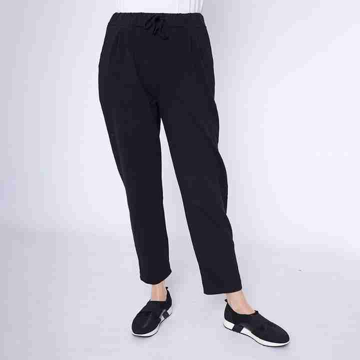 Drawstring Jersey Trouser(Black)